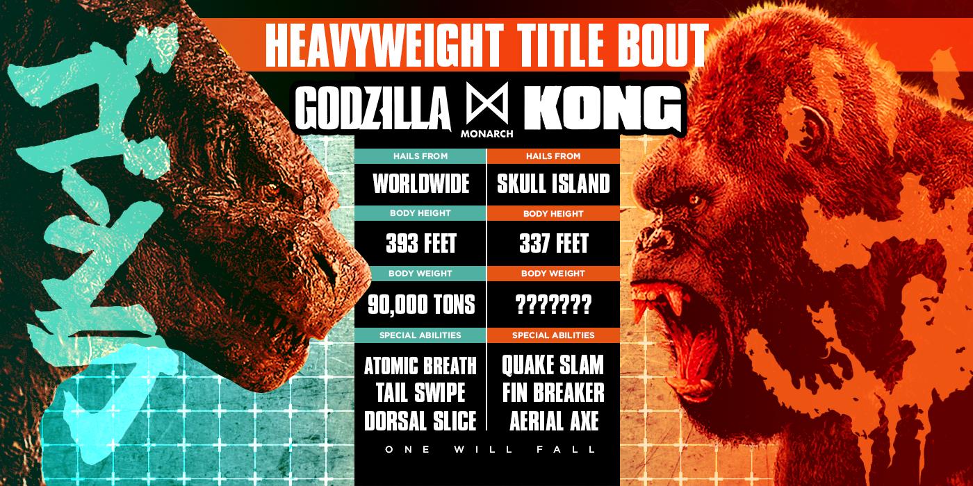 'Godzilla vs. Kong' Tale of the Tape: Who Ya Got?