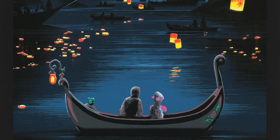 Tangled Poster by JC Richard Reveals a Lantern-Filled Castle Print