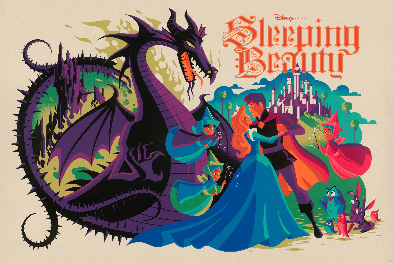 Sleeping Beauty screenprint
