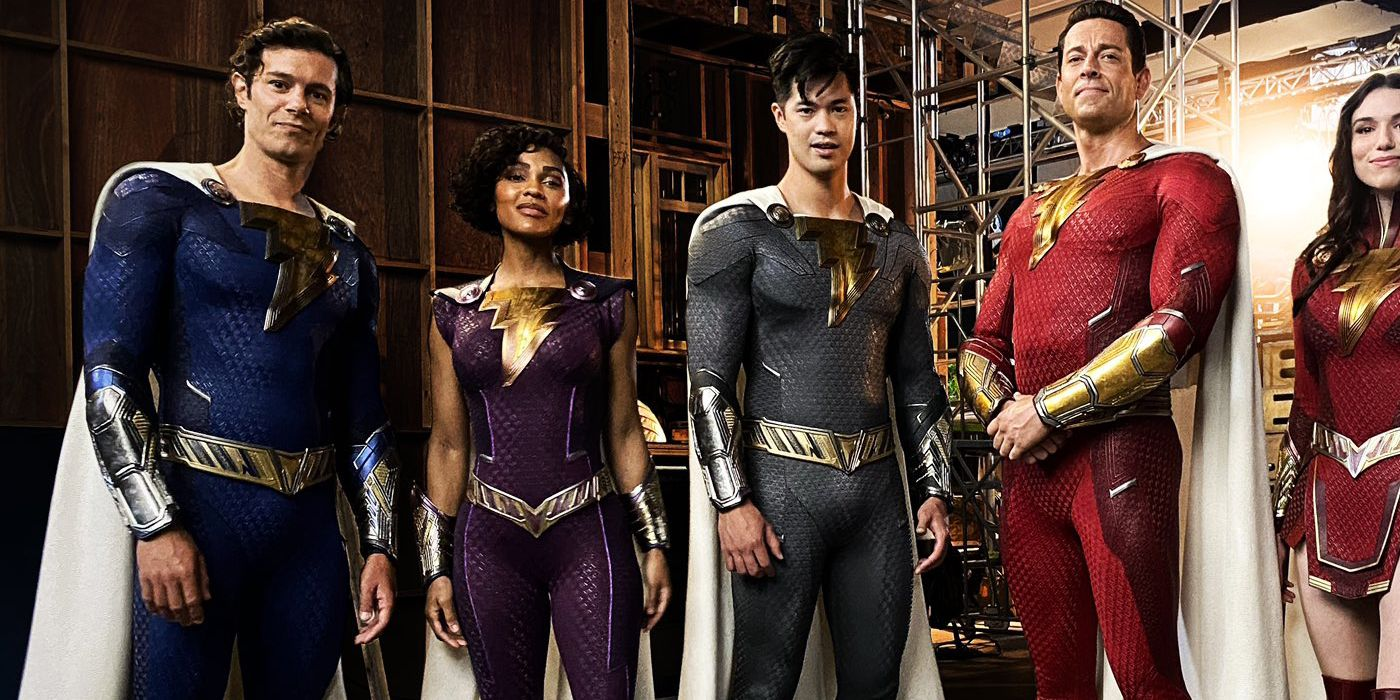 'Shazam 2': First Look at the Cast in Their New Superhero Suits Reveals Snazzy Adam Brody, Zachary Levi