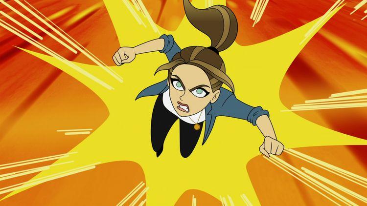 Chloe Decker em desenho animado (Divulgação/Netflix)