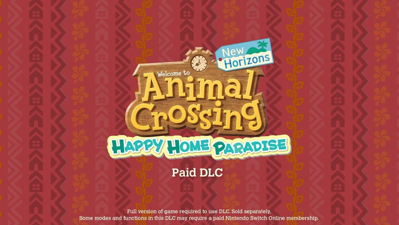 Animal Crossing: New Horizons Happy Home Paradise DLC Release Date Revealed